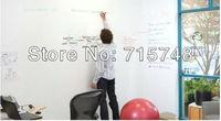 free shipping whiteboard sticker creative message DIY white board stickers, stationary meno children gift wall sticker,45*200cm