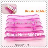 8pcs/Lot Pink Nail Art Makeup Brush Pen Holder Stand Rest