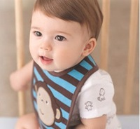 5pcs/ Lot Free shipping Carter Baby Child Bibs Saliva towel Three layer of  Waterproof Bib, Fit 3 Months - 3 Years old, CL0125