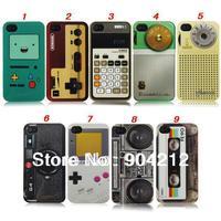 Retro Calculator Joystick Radio Cassette Camera Plastic Case for iPhone 5 5g 5s