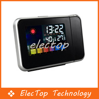 Free shipping Digital LED Display Weather Station Projection Alarm Clock temperature 90pcs/lot Wholesale
