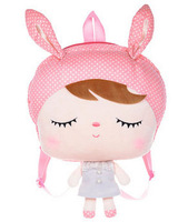 6PCS 5% OFF,Dropshipping,Metoo Big Head Backpack For Kid's Gifts,Stuffed Toy Angela Bag,33x45cm,1PC