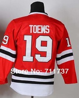 Free Shipping Ice hockey jersey,#19 Jonathan Toews Kids/Youth Hockey jersey,Embroidery and Sewing logo,Size S--XL,Mix Order