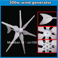 windpower generator 300w 12VDC 24VDC alternative wind green energy supplier CE Rohs,ISO 15 lift usage free