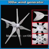 windpower generator 300w 12VDC 24VDC alternative wind green energy supplier CE Rohs,ISO 15 lift usage free