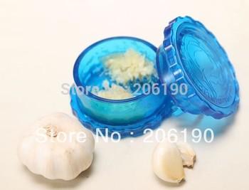 Free shipping 2pcs/lot Vegetable Garlic Crusher Peeler Spice Mincer Stirrer Presser Slicer Ginger Clear Kitchen Tool on Tv