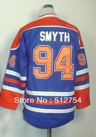 Free Shipping, #94 Ryan Smyth Kids/Youth Hockey Jersey,Ice Hockey jersey,Embroidery logos,size S--XL,Accept Mix Order