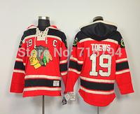 NHL Jerseys Wholesale Cheap Authentic Blackhawks Hoodies 19 Jonathan Toews Old Time Hockey Hoodies Sweatshirts NHL Hoodies Men