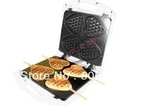 4 pcs heart-shaped waffle pan/ waffel maker/ waffle machine