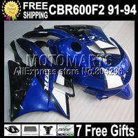 D549 7gifts+ tank for HONDA CBR600F2 91-94 CBR600 F2 600F2 F2 91 92 93 94 1991 1992 1993 1994 NICE Blue Black Full Fairing Kit