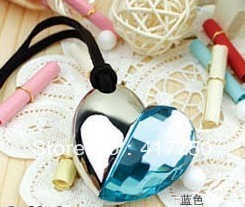 Free Shipping Crystal Heart USB 2.0 4GB 8GB 16GB 32GB memory disk USB Flash Drive
