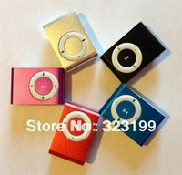 MINI clip MP3 Player with Micro TF/SD card Slot with cable/USB+earphone No retail box Free shipping mp3 players