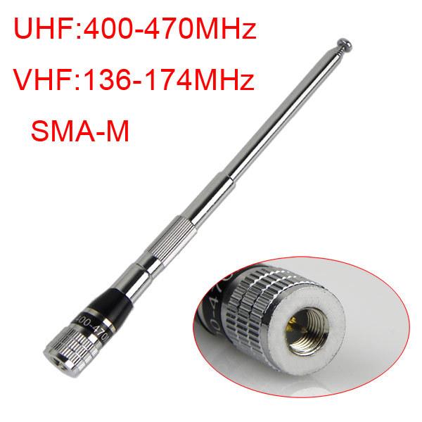 SMA-M Male Connector UHF or VHF Radio Antenna J0187A for Kenwood/Motorola BF-UV3R TH-UV3R walkie talkie NEW Fshow(China (Mainland))