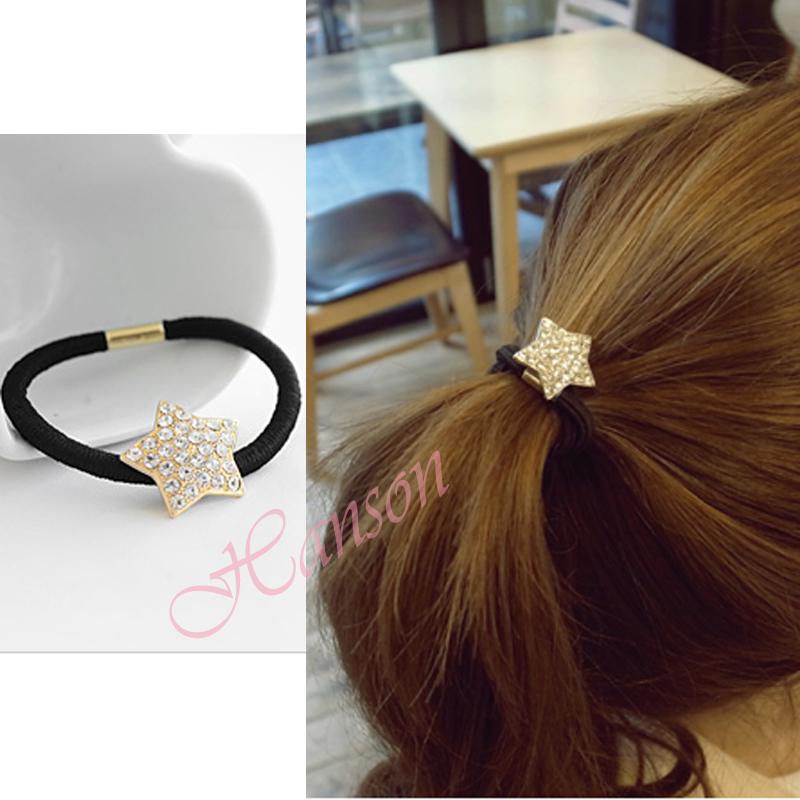 Free shipping Fashion Austria crystal hair jewelry hairbands Heart love stars full rhinestone hairwear HW16(China (Mainland))