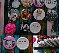 20 Pcs/lot kpop k-pop star exo TVXQ justin bieber sj 2mp beast etc  badges Q version circular breastplate with 395 style