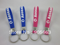 Custom design silicon key holder, debossed logo, colour filled in, promotion gift, silicon keyring, 100pcs/lot