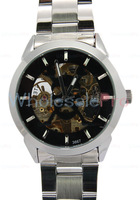 Daybird Unisex Cool Skull Hollow Black Dial Mechanical Watch