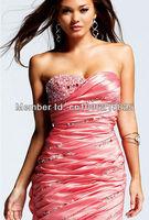 Best Selling 2013 Designer Fabulous Sheath Pleated Short Homecoming Dresses