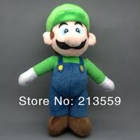 "Free Shipping 5/Lot New Super Mario Bros. Stand LUIGI Plush Doll Stuffed Toy 10"" Retail"