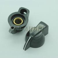"10PCS Black Chicken head knob for vintage tube guitar amps effect pedal Over Drive Cabinet Speaker Parts 1/4"" Hole"