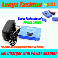 LED Balance Charger Checker 2s~4s Lipo +power adapter for eBest AR DRONE battery, wholesales & retails