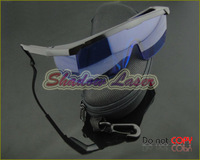 Blue Safety Glasses With Protective Case For 600nm-750nm Red Orange-Red Laser Ray Eye Laser Pointer Protection Goggles