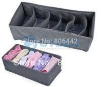5sets/Lot (3 Pcs/Set) Foldable Bamboo Charcoal Organizer Storage Box Set For Bra Underwear Tie Socks Free Shipping 9843