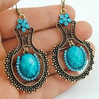 Free shipping Vintage Bohemia Drop Earrings Fashion Jewelry Wholesale Qulity Guaranteed V-E1083