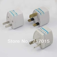 10pcs/lot White NEW Universal UK/AU/US to US AC Power Plug Travel Adapter