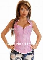 Free shipping ML4065 S/M/L/XL New Arrival Sexy pink elegant halter style women corset underwear corset shapewear