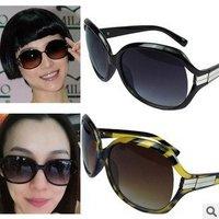 Free Shipping Fashion Hot Sell Big Frame Metal Edge Ladies`sunglasses/korean Glasses Wholesale Women Men Sun Glasses Retro Style