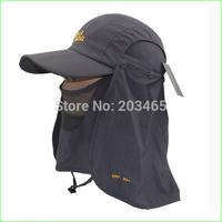 Free shipping FSC03 fishing hats/cap Visor Fishing Camping Cap Mask Face Protect Cap Cover sunbonnet