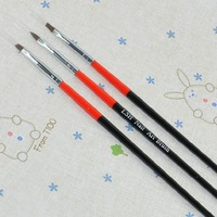 [AE519]5 sets/lot 3PCS Black+Red Handle Nail Art Design Pen Painting Dotting Pen Nail Art Brush Nail Tools