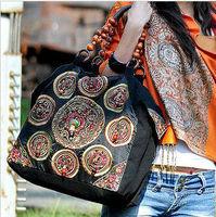 Women's handbag bag miaoxiu national trend handmade personalized bag beading one shoulder canvas embroidered bag bodhi