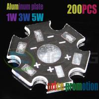 FREE SHIPPING 200pcs/PACK 1W 3W 5W High Power LED Heat Sink Aluminum Base Plate