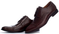 British Fashion Men Dress Shoes Pointed Shoes Genuine Leather Dress Shoes size41-46