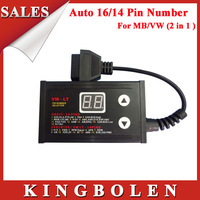 2014 New Arrival Scanner For MB/VW(2 in 1)Auto 16/14 Pin Number Selector Free Shipping