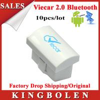 [5pcs/lot] Wholesales MINI Viecar elm327 Bluetooth OBDII Professional Diagnostic Tool Viecar 2.0 OBD2 elm327 Works On Android