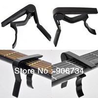 High Quality Aluminium Alloy New Black Quick Change Clamp Key Acoustic Classic Guitar Capo For Tone Adjusting