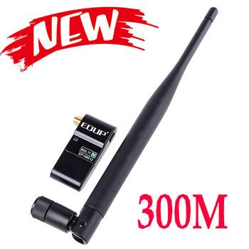 Mini 300M 802.11n Wireless USB WiFi LAN Adapter Network Card for HD TV PSP Free Shipping Wholesale