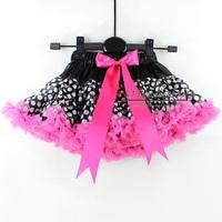 Hot Sellers Ruffled Petti Skirts Baby Girl Chiffon Dot Bow Ballet Kid Tutu Skirt Children Summer Wear Baby ClothesTS30122-05^^EI