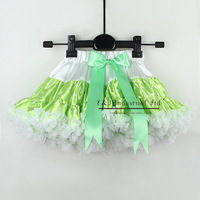 Wholesale Baby Girls Petti Tutu Skirt Child Green With Bow Ballet Skirt Fluffy Little Kid Summer Wear Ready Stock TS30122-06^^EI