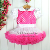 Wholesale Baby Girl Petti Tutu Dress Hot Pink Kids Summer Chilffon Dresses Children Summer Wear Kids Garment TD30122-14^^EI