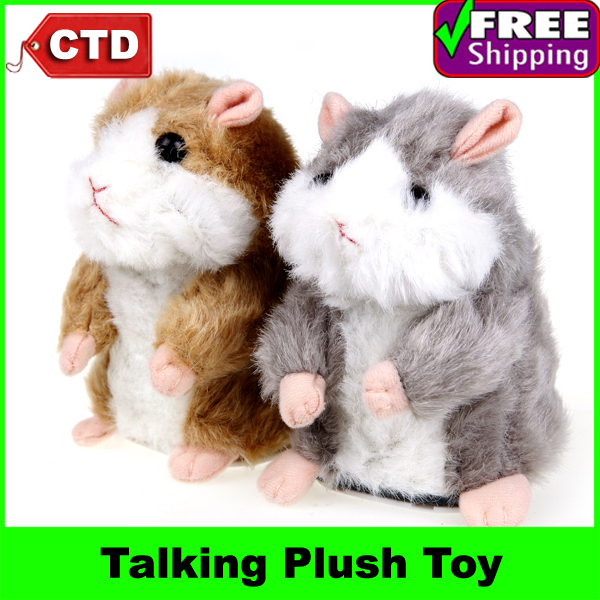 Super Likable Hamster Copy Voice Pet Recorder Talking Plush Toy(China (Mainland))