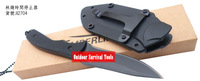 Mini Pit Bull  knife X2704, drop point, integrated fixed blade, ABS handle with neck chain, Kydex sheath, free shipping