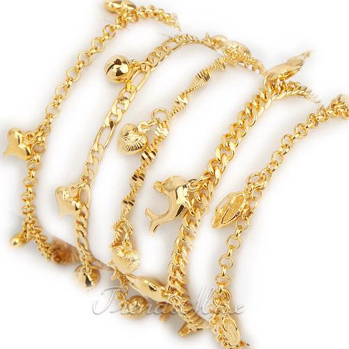 Gold charm bracelets for girls womens girls bracelet 18k gold