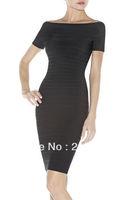 Celebrity HL Free Shipping Black Women Ladies BodyCon Bandage Sexy Party  Cocktail Dress HL 507 XS S M L