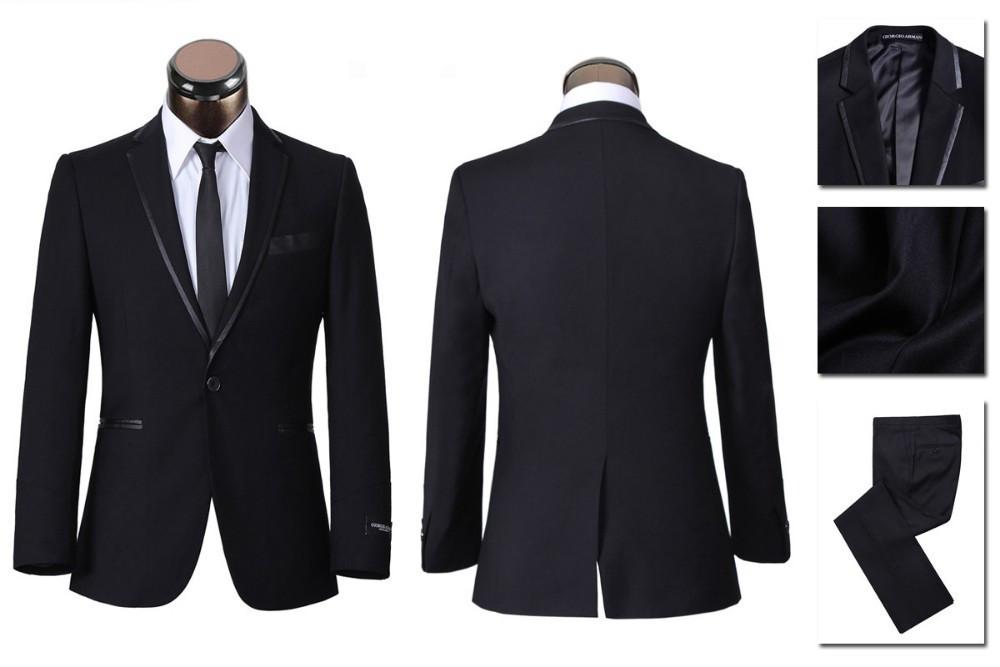 2013 Western Style Suit,Black Tuxedo for Men,S-4XL Wedding Suits ...