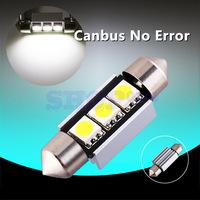 10pcs 39mm 3 SMD 5050 Pure White Dome Festoon led CANBUS Error Free led Car 3 LED Light Lamp Bulb Parking Car Light Source