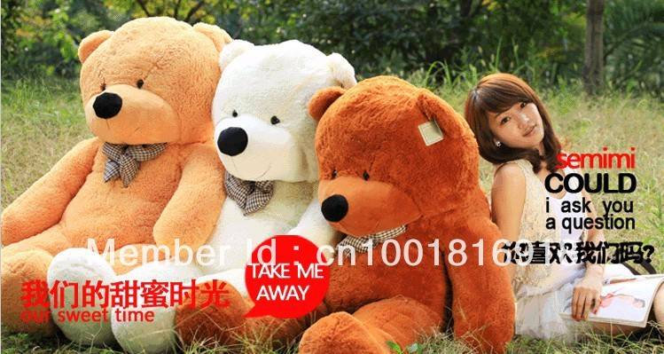 High quality Low price teddy bear/giant stuffed teddy bear size160cm /toys/huge teddy bear/stuffed bear/Kids Birthday gifts(China (Mainland))
